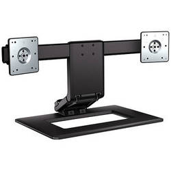 HP AW664UT Adjustable Dual Display Stand (Black & Silver)