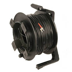 Tactical Fiber Systems DuraTAC Armored SM Tactical Fiber Cable & Reel with 2 ST Connectors (500')