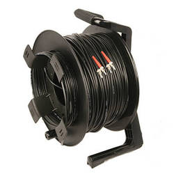 Tactical Fiber Systems DuraTAC Armored SM Tactical Fiber Cable & Reel with 4 ST Connectors (1750')