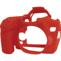 easyCover Silicone Protection Cover for Canon EOS 70D (Red)
