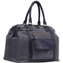Kelly Moore Bag Jude Bag (Gray Canvas/Black Trim)
