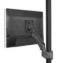 Chief K1P110B Kontour Articulating Single Monitor Pole Mount (Black)