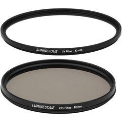 Luminesque 82mm Circular Polarizer and UV Slim PRO Filter Kit