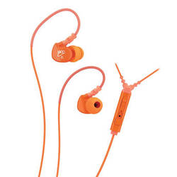 MEElectronics Sport-Fi M6P Memory Wire In-Ear Headphones with In-Line Mic Remote Control (Orange)