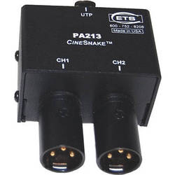 Energy Transformation Systems CineSnake PA213 2-Channel Audio Adapter Transmitter with Male XLR Connectors