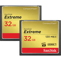 SanDisk 32 GB Extreme CompactFlash Memory Card (2-Pack)