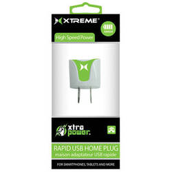 Xtreme Cables 1-Port 1A USB Home Charger (Green)
