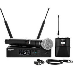 Shure QLXD124/85 Handheld and Lavalier Combo Wireless Mic System (G50: 470 to 534 MHz)