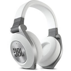 JBL Synchros E50BT Bluetooth On-Ear Headphones (White)