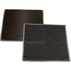 """Carson Double Sided Cleaning Cloth - 7 x 7"""" (Classic Black, 2-Pack)"""