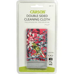 "Carson Double Sided Cleaning Cloth - 7 x 7"" (Wild Flower)"