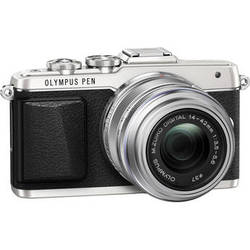 Olympus PEN E-PL7 Mirrorless Micro Four Thirds Digital Camera with 14-42mm f/3.5-5.6 II R Lens (Silver)