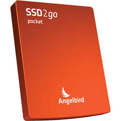 Angelbird 256GB SSD2go Pocket Portable Solid State Drive (Red)
