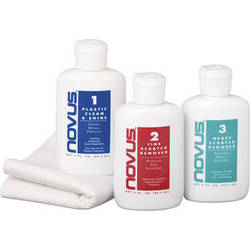 AquaTech NOVUS Cleaning and Scratch Remover Kit for Plastic Lens Ports