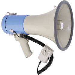 Polsen MP-25 25W Megaphone with Siren, MP3 Player, and Detachable Microphone