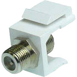 NTW F-Type Silver-Plated Keystone Coupler