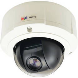 ACTi 4MP Day/Night Outdoor PTZ Dome Camera with 4.9-49mm Varifocal Lens