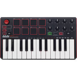 Akai Professional MPK mini MKII - Compact Keyboard and Pad Controller (Black)