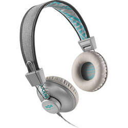 House of Marley Positive Vibration On-Ear Headphones (Universal 1-Button Remote and Mic, Mist)