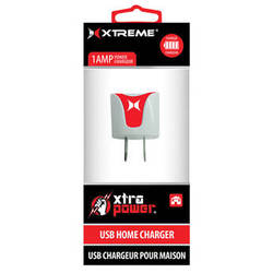 Xtreme Cables 1-Port 1A USB Home Charger (Red)