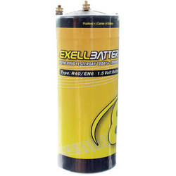 Exell Battery Type R40 Zinc Carbon Battery (1.5V, 40000mAh)