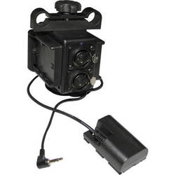 IndiPRO Tools Power Grid & XLR Audio Box with Dual LP-E6 Battery Plates for Canon DSLR Camera