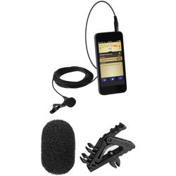 Polsen MO-PL1 Lavalier Microphone for Mobile Devices with Mic Clip and Windscreens Kit