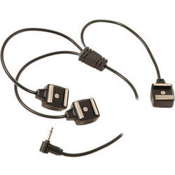 Paramount Miniphone to 3 Hot Shoe Y-Sync Cord