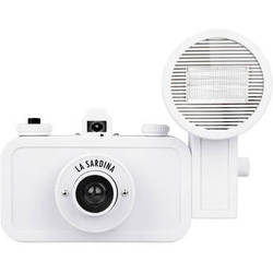 Lomography La Sardina DIY White Edition Camera with Flash