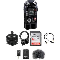 Olympus LS-100 On-Camera DSLR Audio Kit