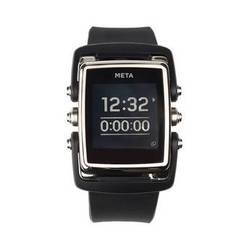 MetaWatch M1 Core Smartwatch (Black/Stainless Steel, Black Rubber Strap)