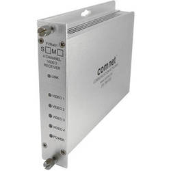 COMNET FVR401M1 4-Channel 10-Bit Digitally Encoded Short-Haul Video Receiver (Multimode, 1310nm)