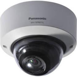Panasonic 6 Series WV-SFR611L Indoor Enhanced Super Dynamic 720p Vandal-Resistant Dome Network Camera (Sail White)