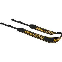 Nikon AN-DC14 Neck Strap for Nikon D750 DSLR Camera (Black)