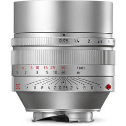 Leica Noctilux-M 50mm f/0.95 ASPH. Lens (Silver)