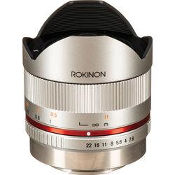 Rokinon 8mm f/2.8 UMC Fisheye II Lens for Fujifilm X Mount (Silver)