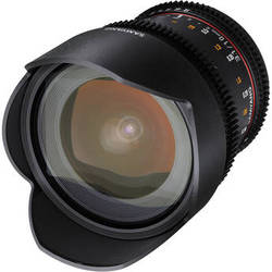 Samyang 10mm T3.1 VDSLR Lens with Canon EOS Mount