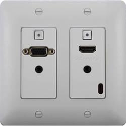 Aurora Multimedia DXW-2 2-Gang HDBaseT Wall Plate Transmitter (White)