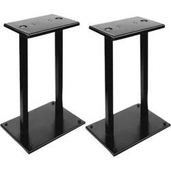 Pyle Pro PSTND18 Heavy-Duty Steel Quad-Support Bookshelf/Monitor Speaker Stand (Black, Pair)