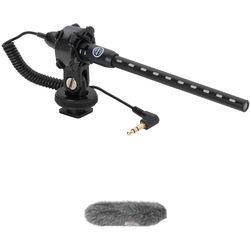 Senal MS-66-K DSLR/Video Mini Shotgun Microphone & Custom Windbuster Kit