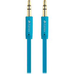 Kanex Stereo AUX Flat Cable (6', Blue)