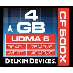Delkin Devices 4GB CompactFlash Memory Card 500x UDMA