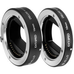 Vello Deluxe Auto Focus Extension Tube Set for Sony E Mount