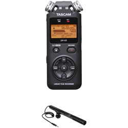 Tascam DR-05 Digital Audio Recorder Kit with Shotgun Microphone