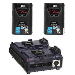 IDX System Technology 2x DUO-95 V-Mount Batteries & 2-Channel Charger/Power Supply Kit