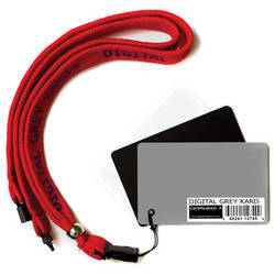 DGK Color Tools Digital Grey Kard Premium White Balance Card Set with Premium Lanyard (Set of Three Cards)