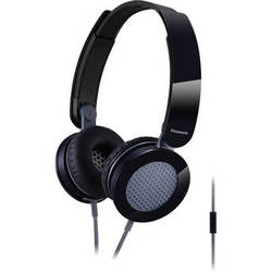 Panasonic RP-HXS200M-K Sound Rush Plus On Ear Headphones (Black and Gray)