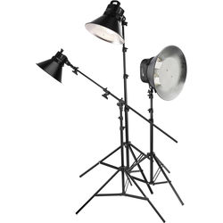 Impact Three Light Fluorescent Cool Light Kit with Stands