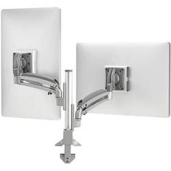 Chief Kontour K1C Dynamic Column Mount for 2 Monitors (Silver)