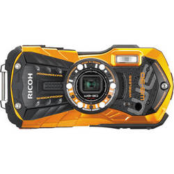 Ricoh WG-30W Digital Camera (Flame Orange)
